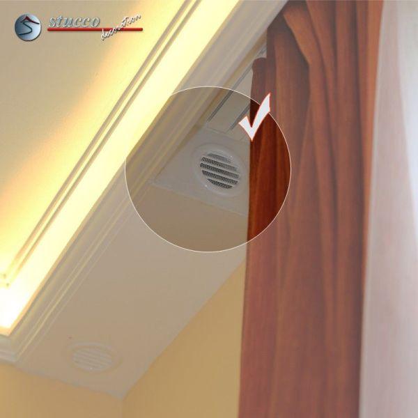 schlie element mit l ftungsgitter zum stuckprofil f r. Black Bedroom Furniture Sets. Home Design Ideas