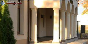 Dekosäulen-Viertel kanneliert mit Beschichtung OBK 310/346