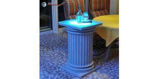 Dekosäulen Hartschaum ODKK-2 480/768 mit Quarzsandbeschichtung und Beleuchtung