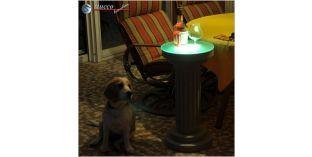 Dekosäule Hartschaum ODMK 340/667 mit Quarzsandbeschichtung und LED Beleuchtung