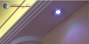 Einbaurahmen für LED Deckenleuchte chrom