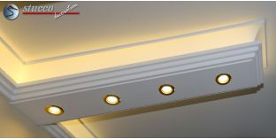 Stuckprofil für direkte und indirekte Deckenbeleuchtung Dortmund 190+2x209