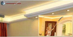 LED Lichtleiste für direkte und indirekte Deckenbeleuchtung München 270+205 PLEXI PLUS