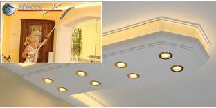 LED Lichtleiste für direkte und indirekte Deckenbeleuchtung München 400+2x205 PLEXI PLUS