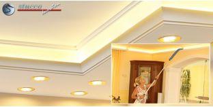 LED Lichtleiste für direkte und indirekte Deckenbeleuchtung München 400+205 PLEXI PLUS