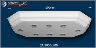 LED Stucklampe Düren 21/1000x500-2 Design Lampen mit Stuck und LED Spot