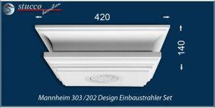 Mannheim 303/202 Einbaustrahler Set mit Stuck und LEDs - warmweiss