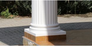 Säulenfuss mit Beschichtung OFK-2K 150/270
