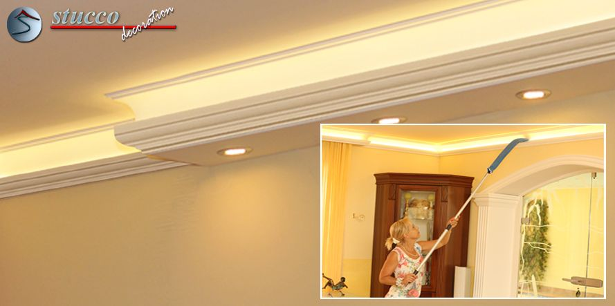 dekos ule hartschaum odm 560 758 mit beleuchtung. Black Bedroom Furniture Sets. Home Design Ideas