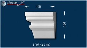 Fassadenstuck Zierleisten Ankara 108 Schließelement links