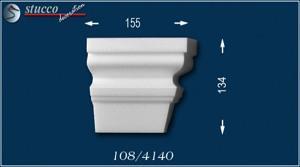 Fassadenstuck Zierleisten Ankara 108 Schließelement rechts