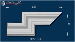Fassadenstuck Zierleiste Oxford 102 linkes doppeltes Eckelement