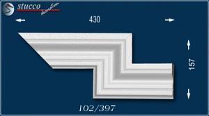 Fassadenstuck Zierleiste Oxford 102 rechtes doppeltes Eckelement