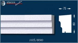 Fensterbankprofil Idaho 105 unbeschichtet