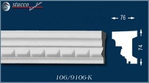 Fensterbankprofil Kairo 106-K unbeschichtet