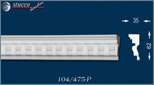 Aussenstuck Stuckleisten Rabat 104-P unbeschichtet