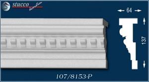 Fassadenelement Stuckleisten Elpaso 107-P unbeschichtet