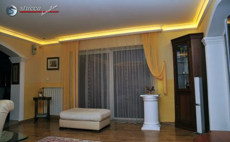 indirekte beleuchtung mit stuckleisten aus styropor. Black Bedroom Furniture Sets. Home Design Ideas