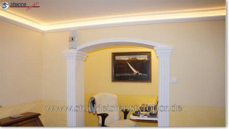 flexible stuckleisten auf bogige wand wandgestaltung wandgestaltung ideen profilleiste zum. Black Bedroom Furniture Sets. Home Design Ideas