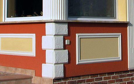 Bossensteine und Quadersteine zur Eckgestaltung der Fassade