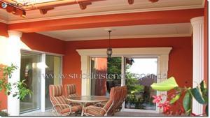 Beschichtete Säulenverkleidung zur Terrassengestaltung