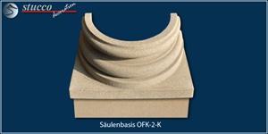Säulenfuß mit Quarzsand-Kunstharz-Beschichtung OFK-2K