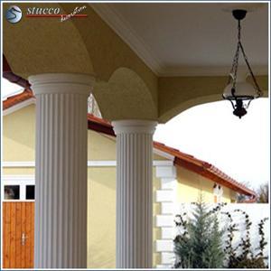Säulenverkleidung mit Kunstharz-Quarzsand-Beschichtung für Säulen im Außenbereich