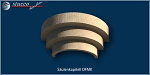 Stufiges Säulenkapitell OFMK mit Kunstharz und Quarzsand beschichtet