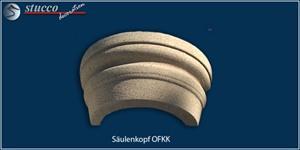 Rundes Kapitell OFKK mit Kunstharz-Quarzsand-Beschichtung für Säulen