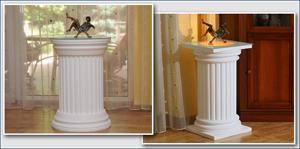 Komplette Dekosäulen für den Innenbereich – mit und ohne indirekte LED Beleuchtung