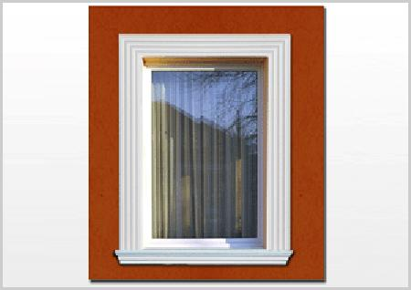 Fensterumrandung mit dem Fassadenprofil Freetown 100
