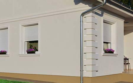 Fassadenstuck mit Quadersteinen aus Styropor