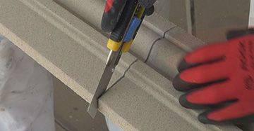 Fassadenprofil schneiden