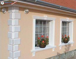Außenstuck zur Terrassengestaltung und Fenstergestaltung