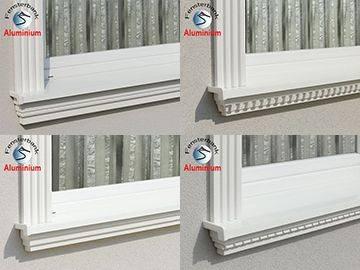 Beispiele für komplette Außenfensterbänke mit Beschichtung