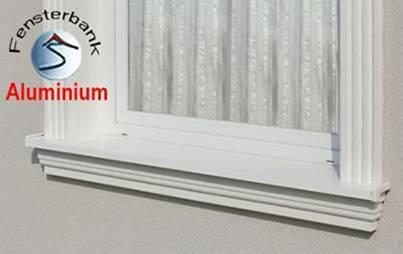 Komplette Fensterbänke für außen