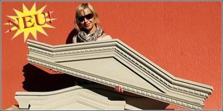 Einbaufertige, beschichtete Fenstergiebel als komplette Fassadenelemente