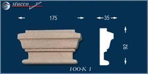 Beschichtetes Fassadenstuck Zierornament Titus 100-K1
