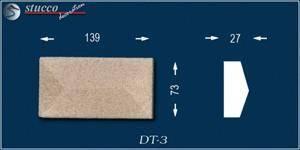 Beschichtetes Fassadenstuck Zierornament Avitus DT-3