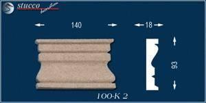 Beschichtetes Fassadenstuck Zierornament Marcus 100-K2