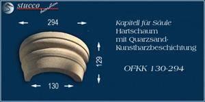Beschichtete Säulenkapitell-Hälfte Stuckmuster Ankara 108