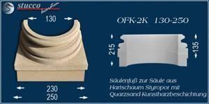 Beschichtete Säulenfuß-Hälfte mit Stuckmuster Ankara 108 und Sockel für Fliesen