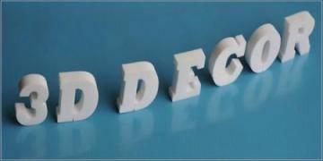 Unbeschichtete 3D Dekobuchstaben für 3D Schriften und 3D Logos