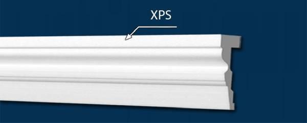 Fassadenstuck aus XPS ohne Beschichtung