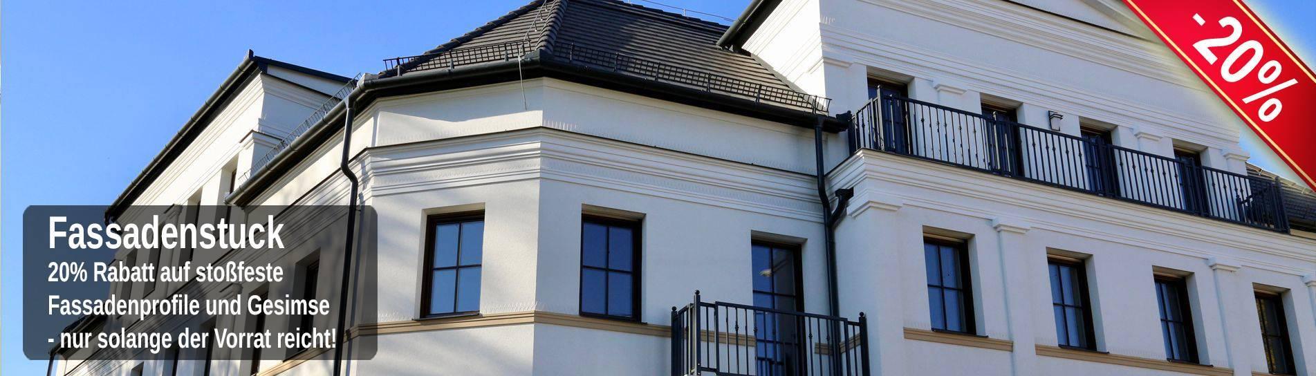 Stoßfeste Fassadenprofile zur Fensterumrandung und für Gesimse