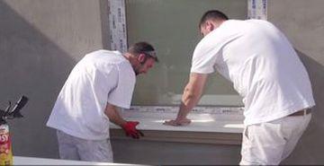 Alu Außenfensterbank einsetzen