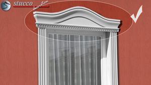 Fassadenstuck Fenstergiebel Bogenbekrönung