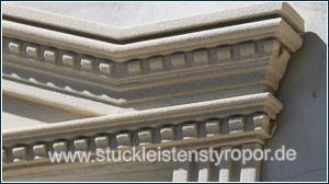 Stuckprofil 107-P/104-P an dreieckigem Tympanon