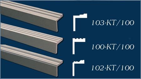 L-förmige Fassadenprofile für Fensterlaibung und Türlaibung