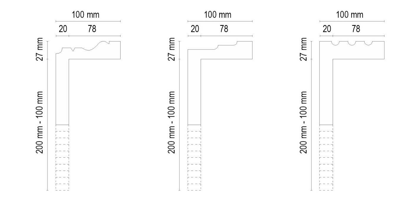 L-förmigen Fassadenprofilen